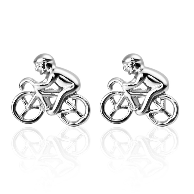HYX Jewelry Silver bike beard metal Brand Cuff Buttons French Shirt Cufflinks For Mens Fashion Cuff Links
