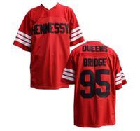 Американский футбол Джерси Prodigy 95 # Хеннесси Queens мост красный S-3XL Все прошитой новое поступление