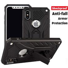 For iphone XS Max Hybrid Anti-knock Armor Case For iPhone X XR XS 5s 6s 6 7 8 Plus Full-body Stand PC+TPU Shockproof Back Cover цена