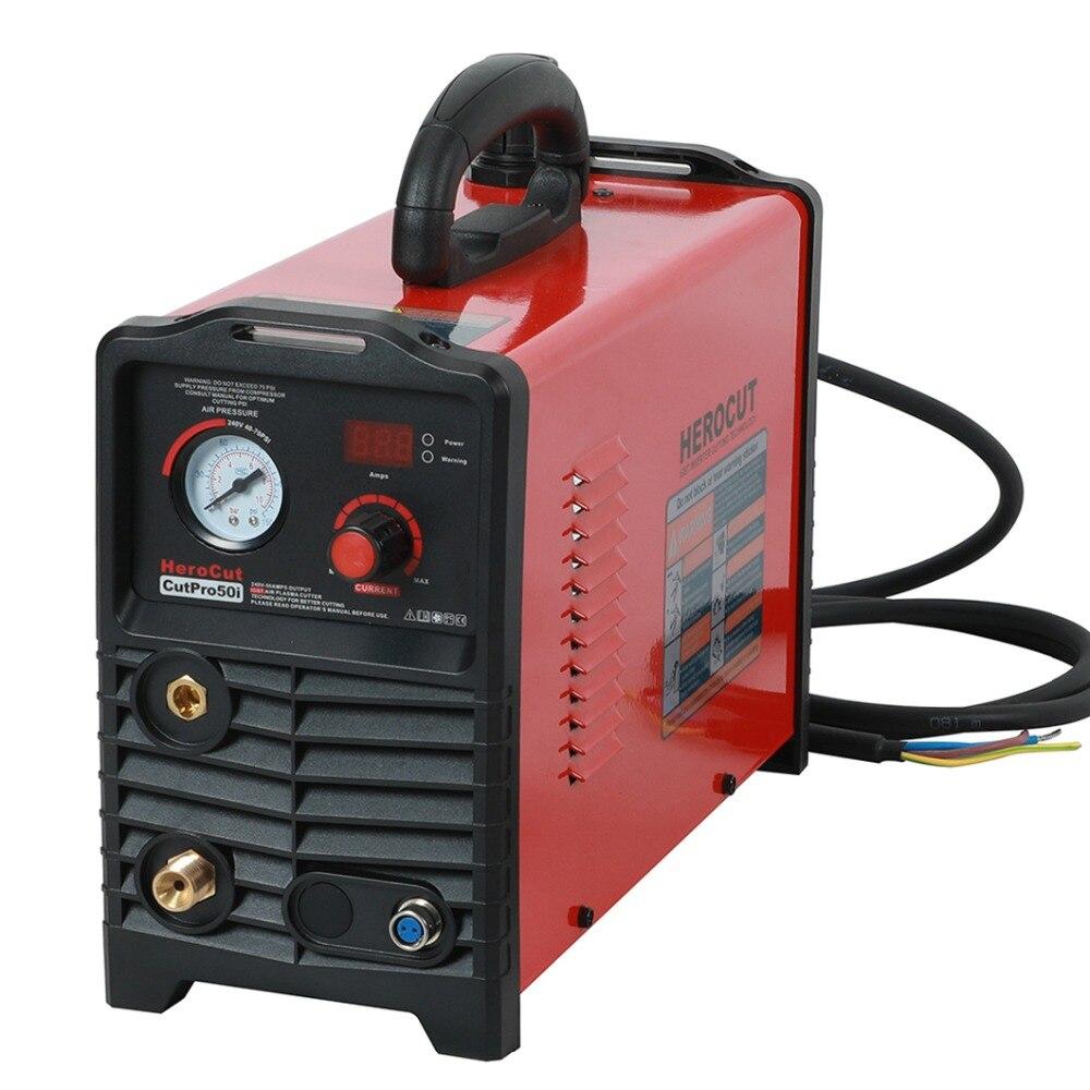 Plasma Cutter IGBT CUTPro50i 50 Ampères DC Air Plasma machine de découpe plasma Cutter 220 v propre épaisseur de coupe 15mm