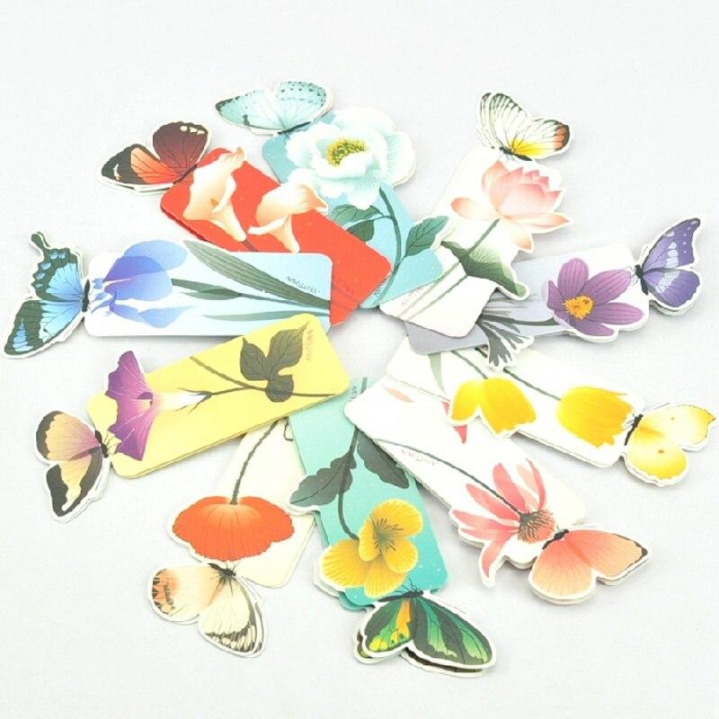 1 set Bookmark Butterfly Style Teacher's Gift Book Marker Stationery Gift Realistic Cute Kawaii Cartoon 3d Bookmark 4