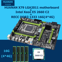 HUANAN motherboard CPU combos revision 2,49 Intel X79 LGA2011 motherboard mit CPU Xeon E5 2660 C2 16G DDR3 RECC RAM 4 kanal