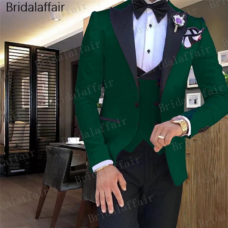 Erkek Kıyafeti'ten T. Elbise'de Gwenhwyfar Son Pantolon Ceket Tasarımları Yeşil Erkek Takım Elbise Slim Fit Damat Smokin 3 Parça Custom Made Düğün Erkek Takım Elbise Balo blazer Seti'da  Grup 1