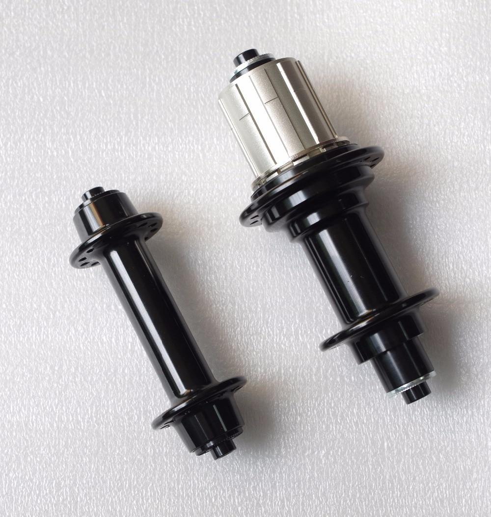 2:1 20/24 H Super léger Powerway R13 J courbure/crochet route vélo moyeux vélo Hubset 20/24 trous de clé noir