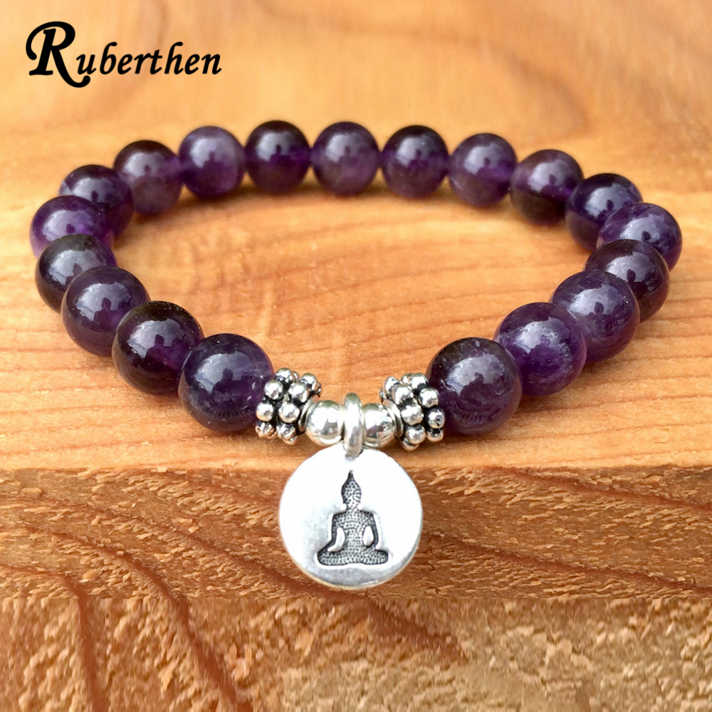 Ruberthen Trendy Natural Stone Bracelet Yogi Women Gift Bracelet Fashion Healing Crystals Addictions Insomnia Jewelry майка мужская oodji basic цвет бирюзовый 5b700000m 44133n 7300n размер xxl 58 60 page 9
