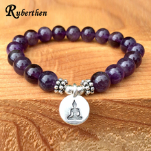 Ruberthen Trendy Natural Stone Bracelet Yogi Women Gift Bracelet Fashion Healing Crystals Addictions Insomnia Jewelry