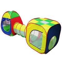 3 en 1 Bébé Jouer Maison Cubby-Tube-Tipi Pop-up Jouer Tente Enfants Tunnel Enfants Aventure maison