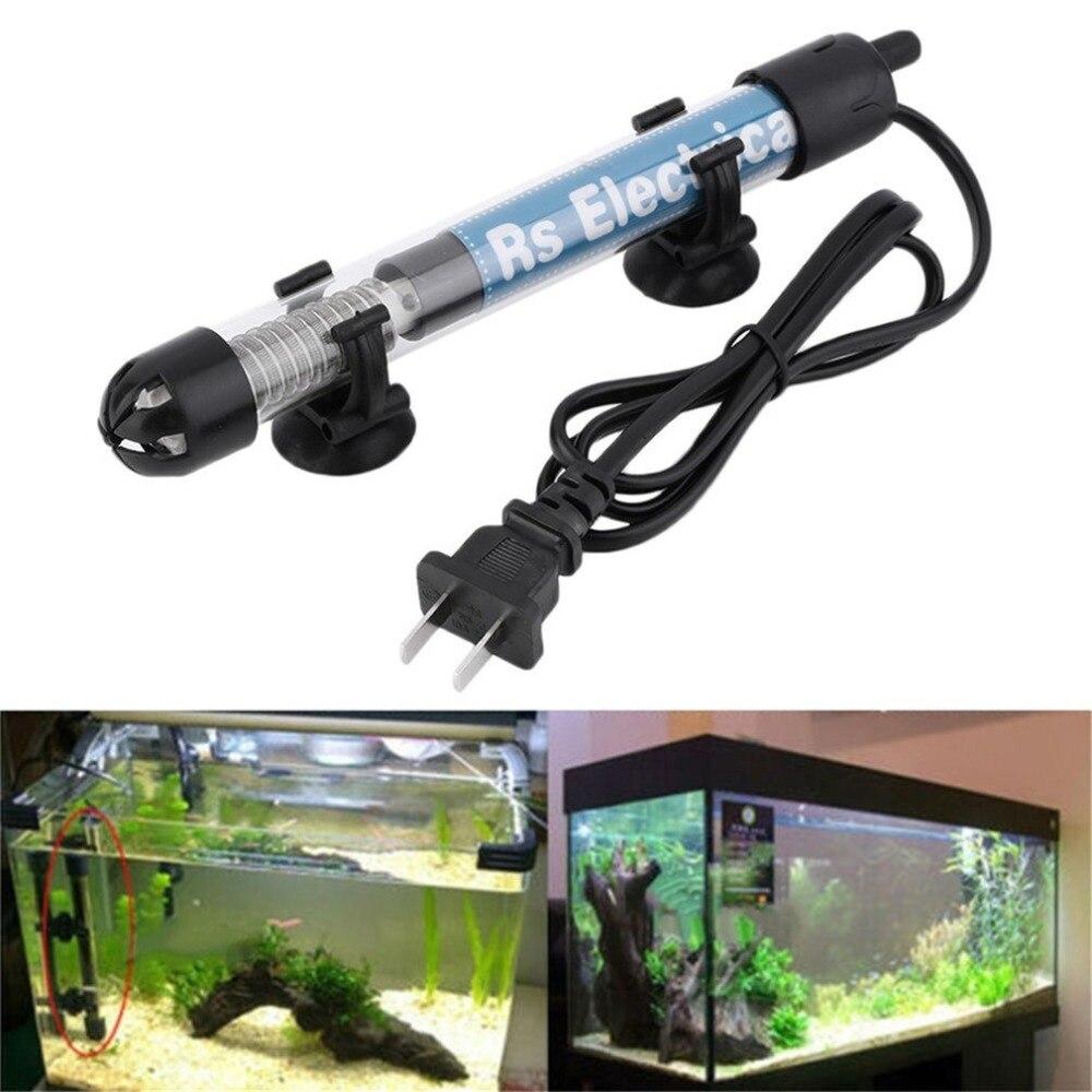 50w/100w/200w/300w US Plug Aquariums Heater Durable Submersible Heater Heating Rod Aquarium Glass Fish Temperature Adjustment