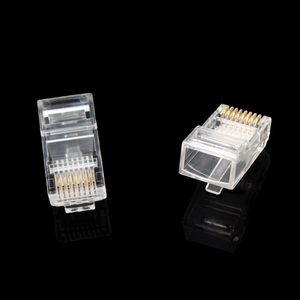 Image 4 - 100 adet 8P8C RJ45 modüler fiş ağ CAT5 LAN profesyonel ve yüksek kalite #647