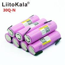 Liitokala 30Q 18650 3000 мАч Высокая мощность разряда перезаряжаемая батарея высокой разрядки, 30A большой ток+ DIY nicke