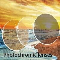 4cd54ee5f8 YOK S 1 61 Index Progressive Anti Blue Photochromic Grey Brown Aspheric  Prescription Resin Lenses UV