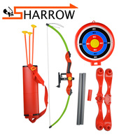1set Archery Kids Bow Toy Set Target Stand Board Quiver Children Outdoor Shooting Game