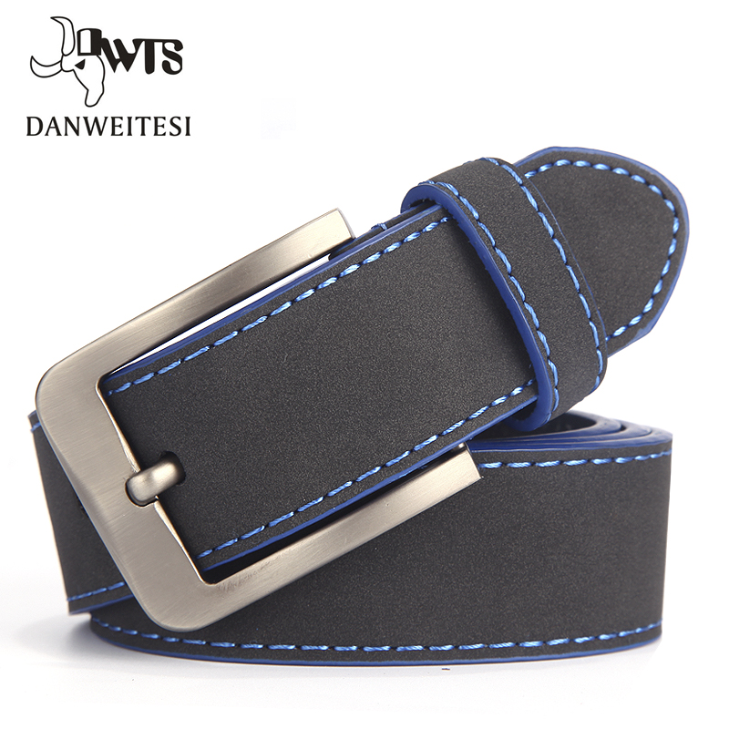 [DWTS]2019 Fashion Belt For Man Leather Belt Italian Design Casual Men's Belts With Blue And Green Color Belts