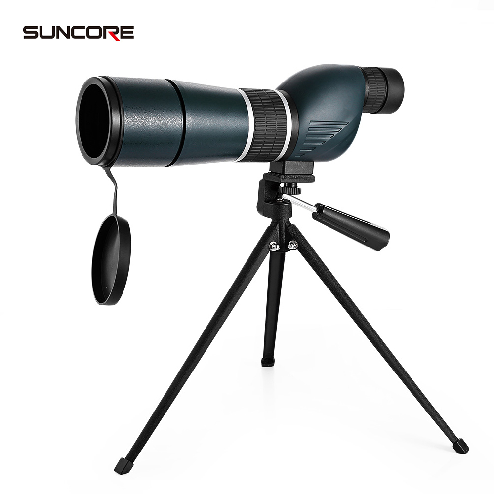 SUNCORE 15 - 45X60S Bird Watching Spotting Scopes with Tripod Hiking Camping Hunting Magnification Monocular Telescope suncore water resistant 12 x 25mm monocular telescope