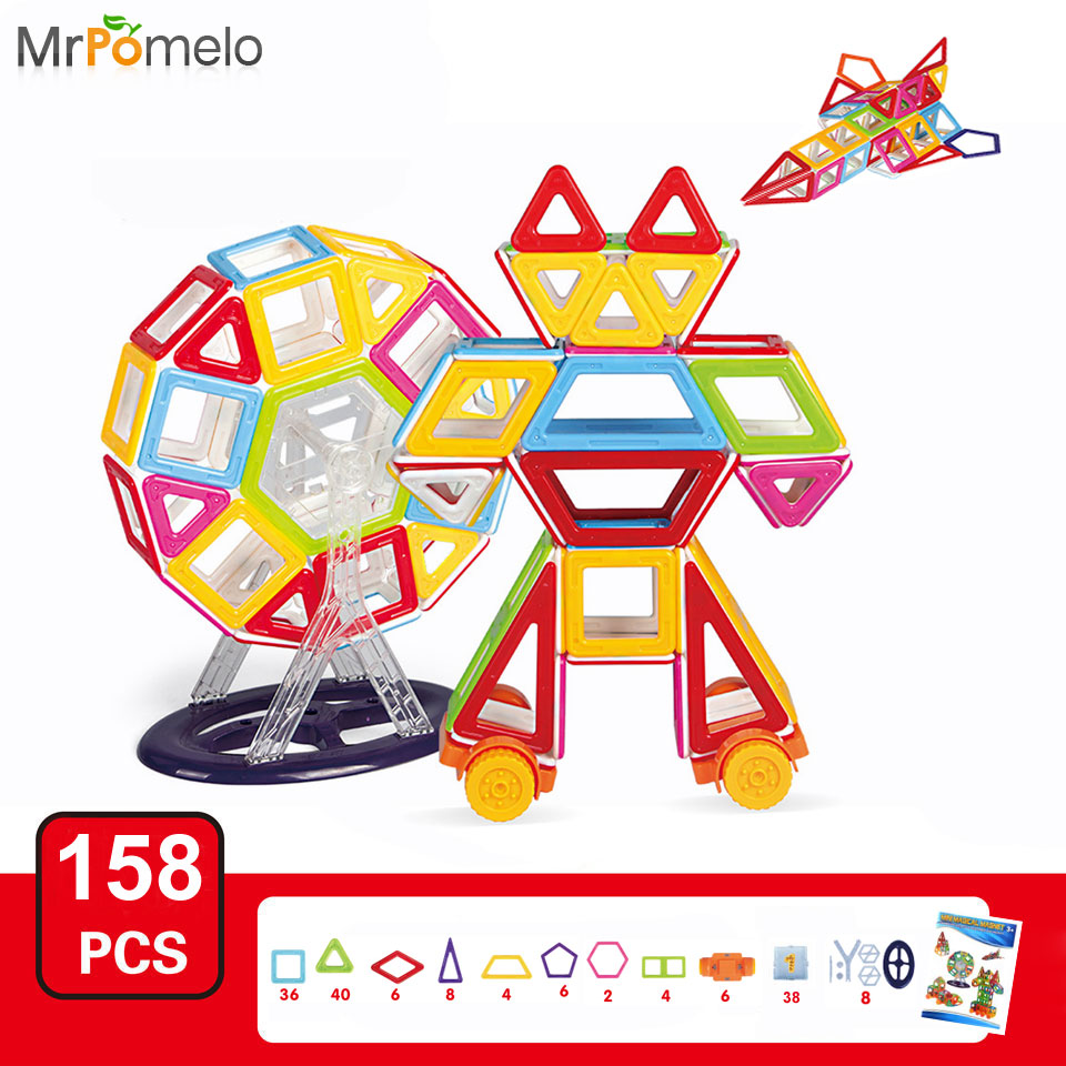 Educational Toys Brands : Mrpomelo magnetic blocks educational toys brand new