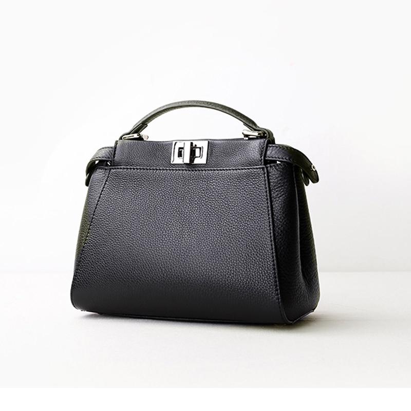 2017 New Women Party Handbags Lady Mini Hasp Lock Shoulder Bag Fashion Cat Design Genuine Leather Messenger Crossbody Bags Totes