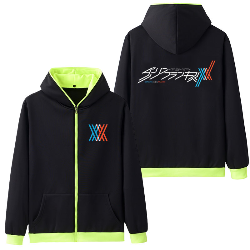 Image 5 - Hot Sale Hooded Anime DARLING in the FRANXX Cosplay Hoodie Zipper Sweatshirt Coat Hoody Sweatshirts & Hoodies Five Colors-in Hoodies & Sweatshirts from Men's Clothing