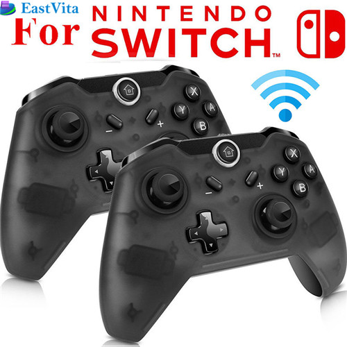 EastVita  1pc/2pcs Bluetooth Wireless Pro Controller Gamepad Joypad Remote for Nintend Switch Console PC Gamepad Joystick vibration joystick wired usb pc controller for pc computer laptop for winxp win7 win8 win10 for vista black gamepad