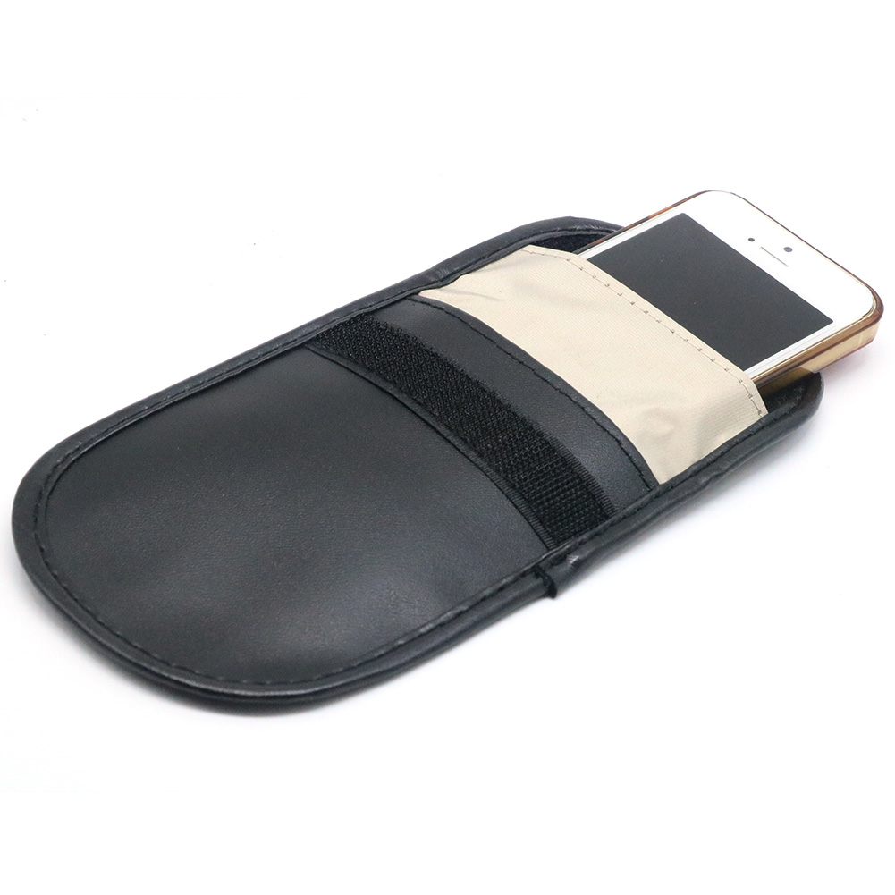 Image 3 - Car Key Signal Blocker Case Faraday Cage Fob Pouch Keyless RFID Blocking Bag Leather-in Key Case for Car from Automobiles & Motorcycles