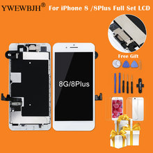 Test AAA Full Set For iPhone 8 8P 7G 7P LCD Display Touch Screen Digitizer Assembly Replacement+ Front Camera+Earpiece Spea