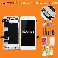 Test AAA ensemble complet pour iPhone 8 8 P 7G 7 P LCD écran tactile numériseur assemblée remplacement + caméra avant + oreillette Spea