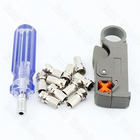 F Head Cable TV Connector Do Line Tools Extruding Wire Stripping Knife With 10 Inch Booster For F Head