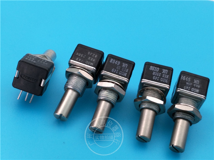 Original new 100% UK import potentiometer MOD149RES 100R 250R 500K 1K 2.5K 25K 250K 500K 1M 2M (SWITCH) dimarzio custom taper potentiometer 500k ep1201