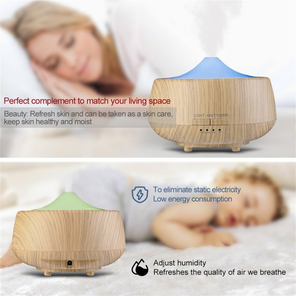 Home Air Humidifier Aroma Diffuser Home Use Aromatherapy Machine Round Air Moistener with LED Light EU Plug 101 цена 2017