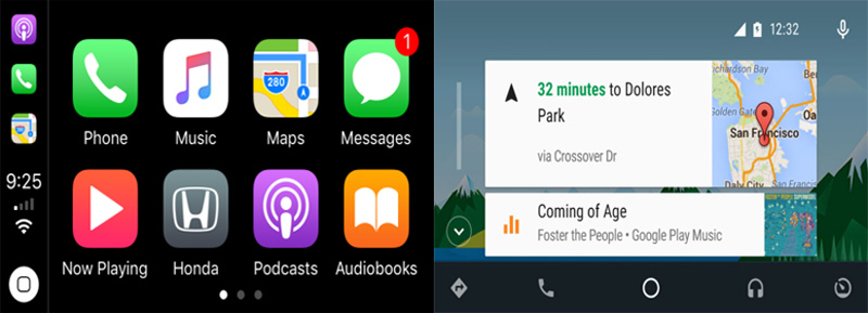 android auto and carplay on android car radio stereo