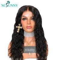 Xcsunny волна воды Шелковый база парик с ребенком волос бразильского Волосы remy парики естественной Цвет отбеленные узлы 130% плотность