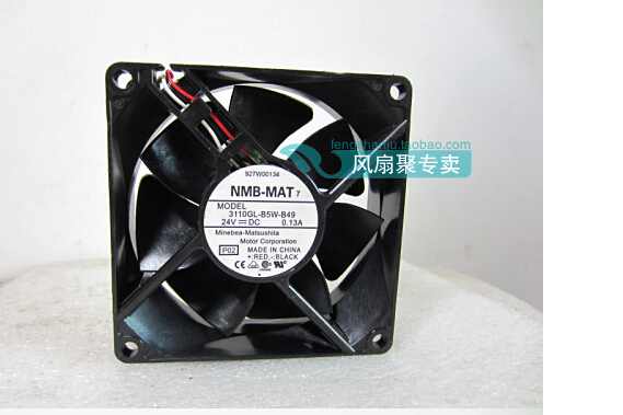 The original NMB 3110GL-B5W-B49 24V 0.13A 8cm 8025 80*80*25mm dual ball three lines radiating fan sanyo new fv28025hba 8025 220v 0 15a ac condenser fan with fan for wonsan 80 80 25mm