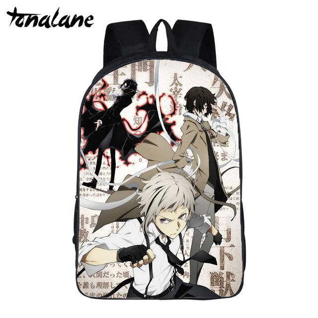 Anime Bungou Stray Dogs Season 3 Backpack for Teenage Girls Boys Travel bags Atsushi Dazai Chuya student school Book Bags | HOTSHOPDIRECT