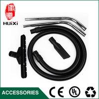 Diameter 40mm Black Flexible EVA Threaded Hose Straight Pipe Floor Brush Round Brush For Industrial Vacuum