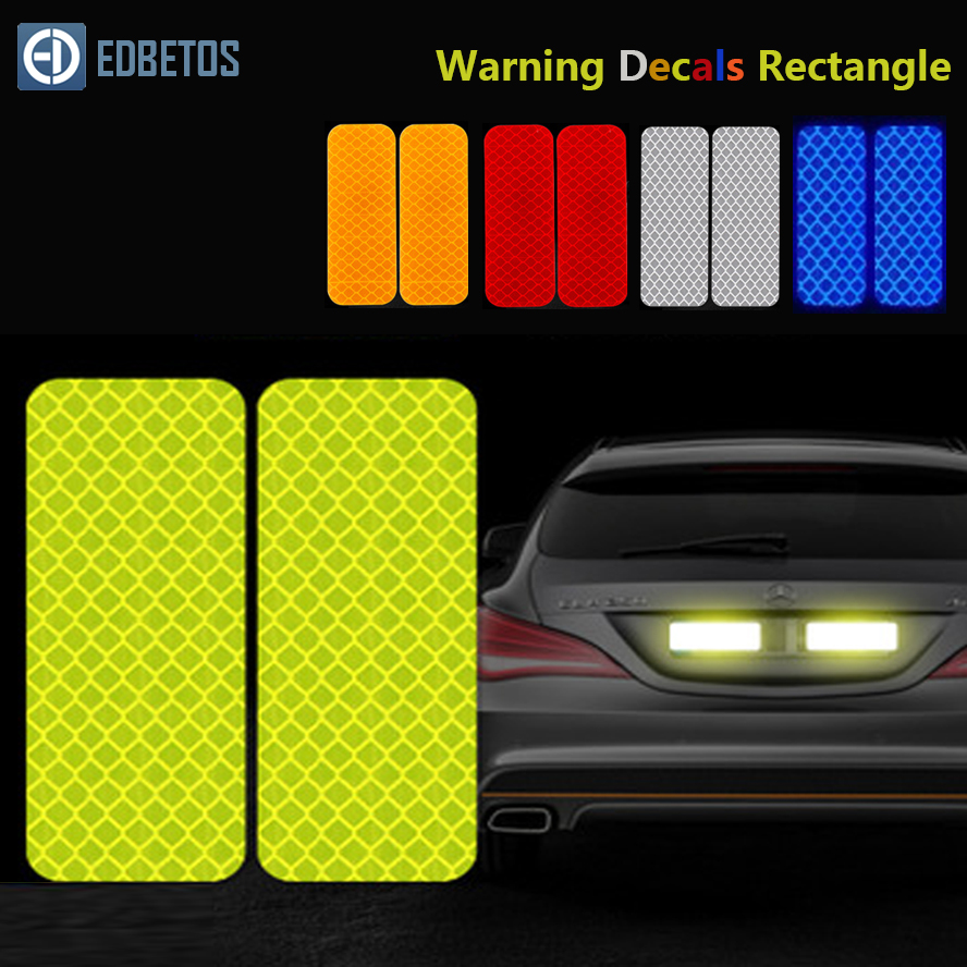 Reflective Car Sticker Rectangle Diamond Tape Safety Warning Mark Decal Notice Bicycle Pegatinas Automovil Coche Araba Aksesuar-in Car Stickers from Automobiles & Motorcycles