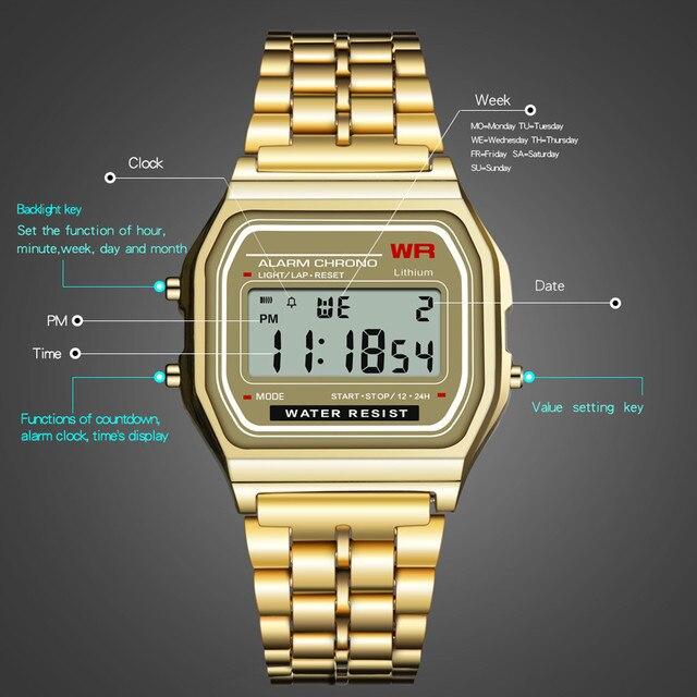 Zerotime #501 NEW Digitalwatch LED Digital Waterproof Quartz Wrist Watch Dress Golden Wrist Watch Women Men Luxury Free Shipping