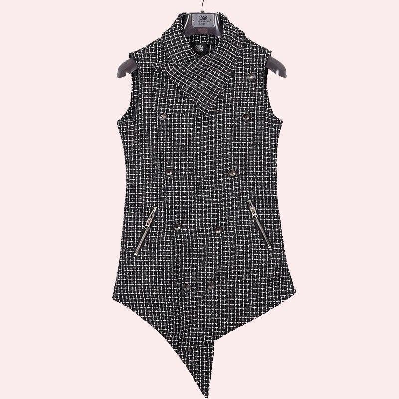 Plus Größe Stilvolle Männer Der Kleidung Rand Designer Qualität Sleeveless Lange Anzug Weste Weste Für S-xxxl Größe Edler Schmuck