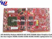 ATI Mobility Radeon HD3470 HD 3470 256 МБ видео Графика карты для Acer Aspire 4920 г 5530 г 5720 г 6530 г 5630 г ноутбук случае диск