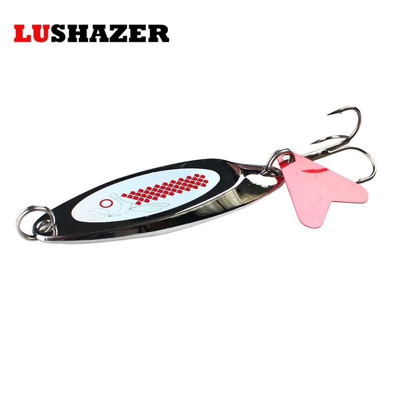 LUSHAZER spoon fishing lure 3g-22g spoon lure Treble Hook metal lure for fishing hard bait spinnerbait fly fishing Free shipping lushazer dd spoon fishing lure 5g 10g 15g silver gold metal fishing bait spinnerbait treble hook hard lures china free shipping