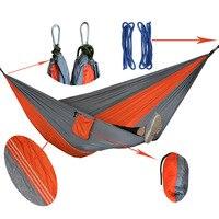 Verschiedene Farbe Hängen Schlafsofa Fallschirm Nylongewebe Outdoor Camping Hängematten Doppel Person Tragbare Hängematte Schaukel Bett
