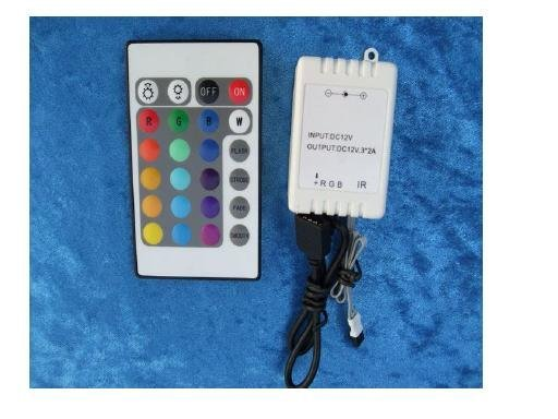 IR 24 key controller, for RGB 5050 strip,DC5V/12V/24V input, please advise