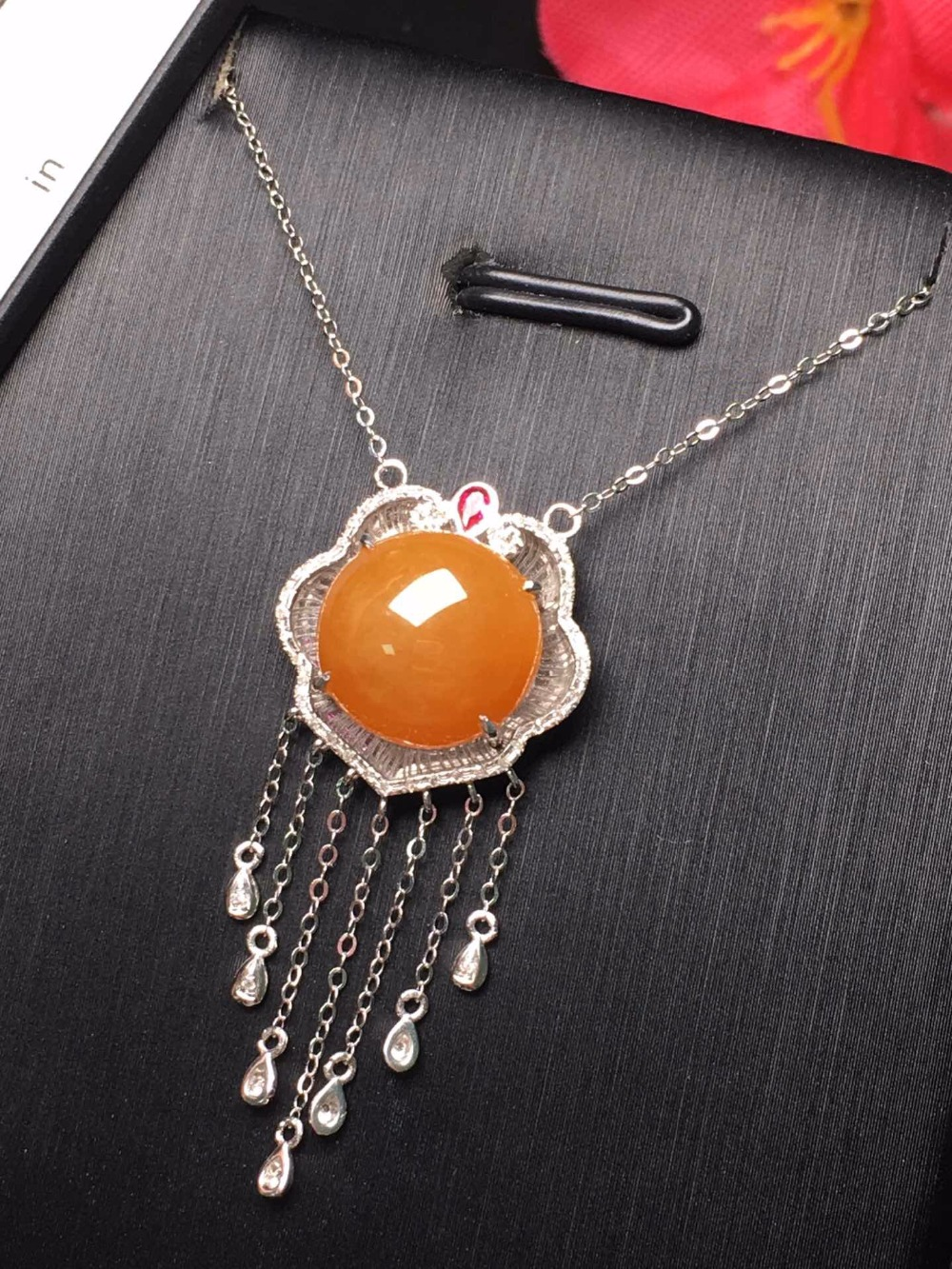 504 Fine Jewelry Pure 18 K Yellow Gold Jewelry 100% Natural Burmes Red Yellow Gemstone Pendant Necklace Fine Pendants Necklaces504 Fine Jewelry Pure 18 K Yellow Gold Jewelry 100% Natural Burmes Red Yellow Gemstone Pendant Necklace Fine Pendants Necklaces