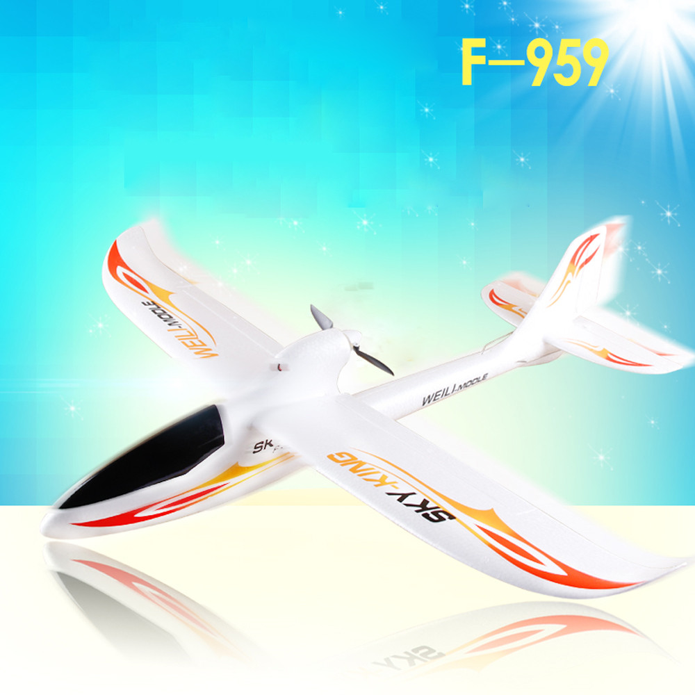 WLtoys F959 2017 New RC Aircraft 3CH 2.4GHz Rechargeable Li-Po Battery Wireless Remote Control Aircraft Wingspan RTF Airplane 3pcs 3 7v 900mah li po battery 3 in 1 green us regulation charger and charging cable for rc xs809 xs809hc xs809hw aircraft