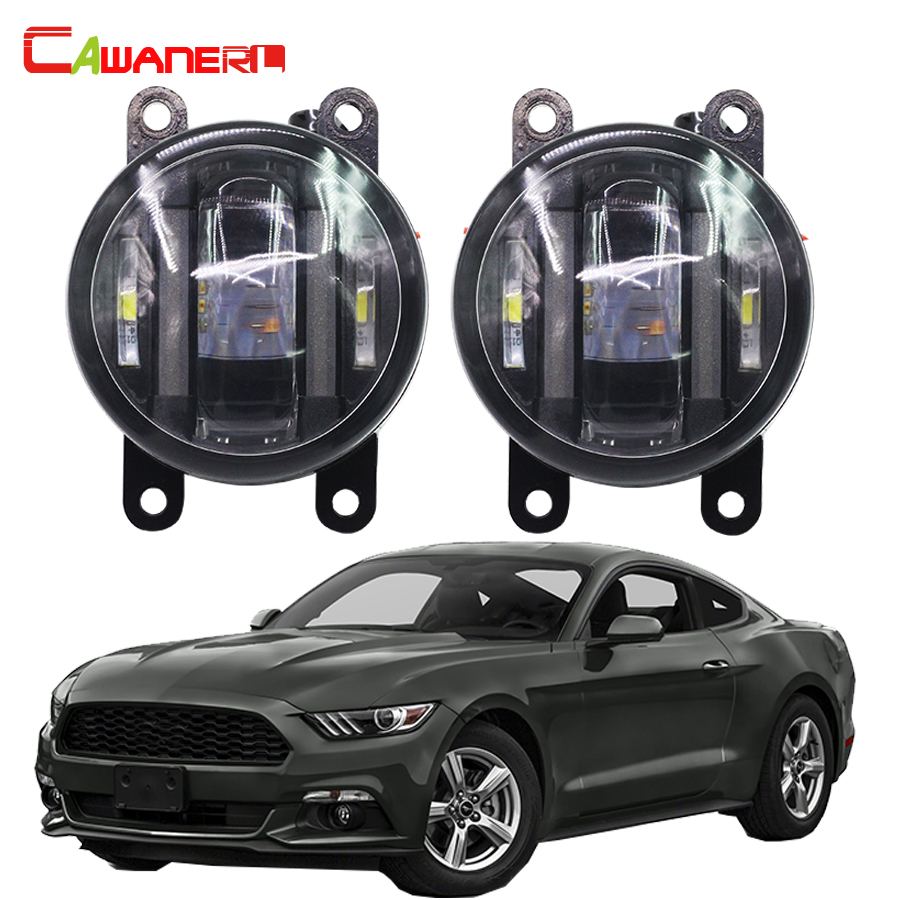 Cawanerl 1 Pair Car Styling LED Fog Light Daytime Running Lamp DRL For Ford Explorer Ranger Mustang Freestyle Taurus X Transit new arrival a pair 10w pure white 5630 3 smd led eagle eye lamp car back up daytime running fog light bulb 120lumen 18mm dc12v