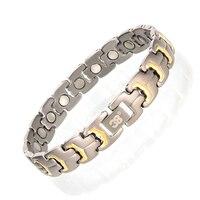 Thời Trang mới Vòng Đeo Tay Từ Tính Viêm Khớp Sức Khỏe Điều Trị Chăm Sóc Vòng Tay Trang Sức for men Titanium Hologram Chian Bracelet
