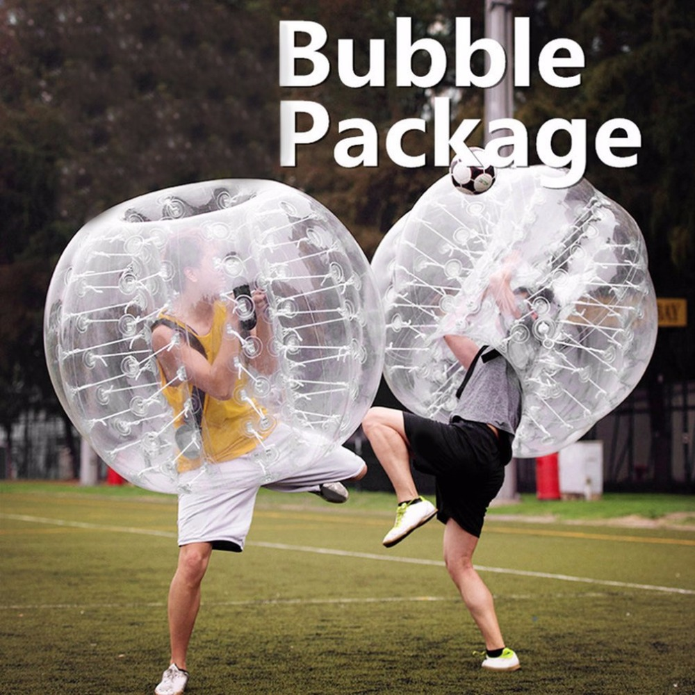 1.2m Diameter PVC Inflatable Bubble Collision Bumper Buffer Ball Human Knocker For Adult Outdoor Running Sport Game Zorb Ball