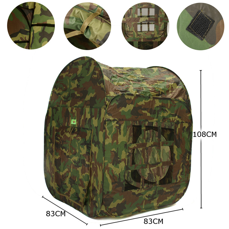 Childrens Kids Camouflage Army Toy Tent Baby Folding Storage House Indoor Outdoor Play Fun Game Toy Tent With Carry Bag Portable outdoor puzzle folding mongolia bag game house tents
