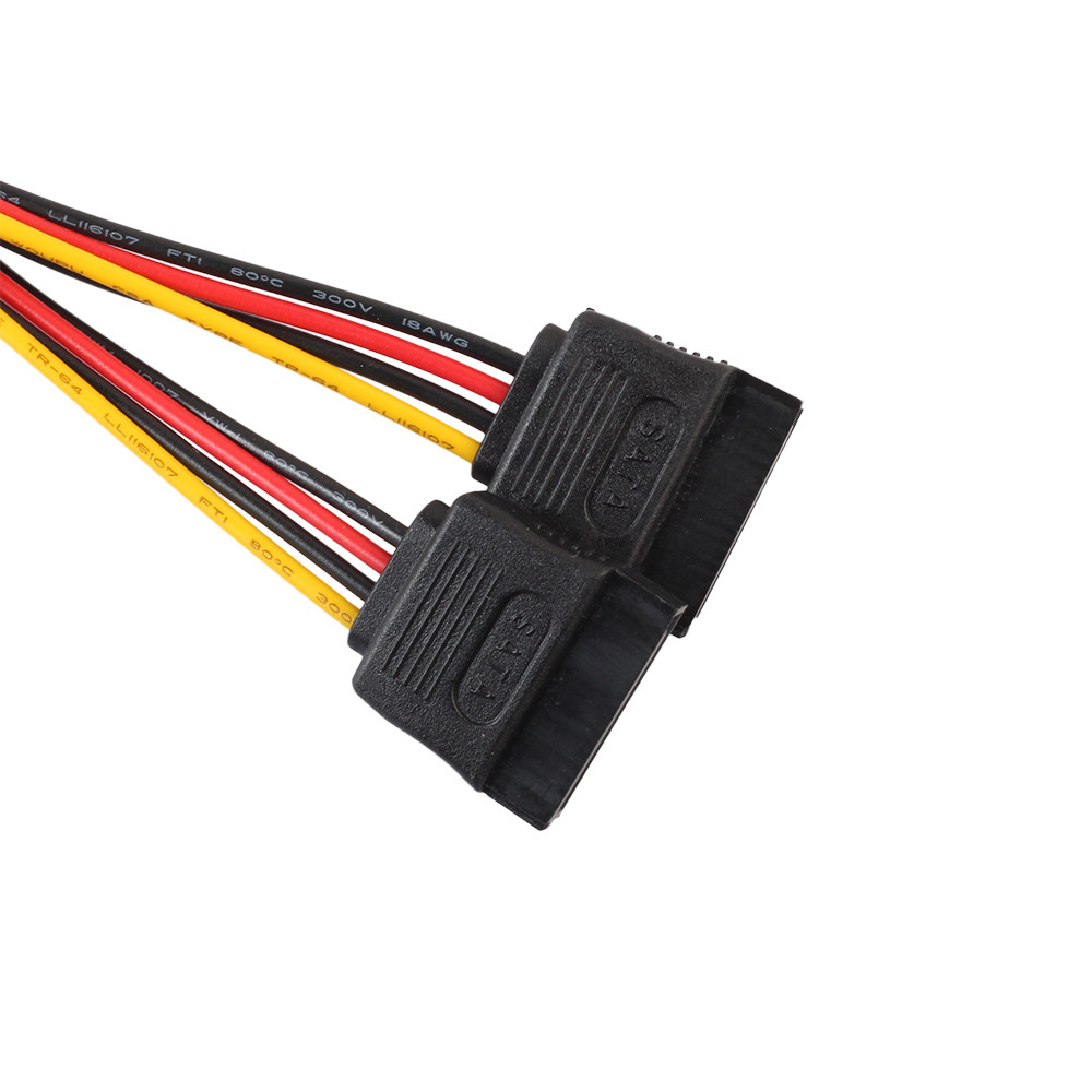 4Pin IDE Molex To 2 ATA SATA Power Supply Y Splitter Hard Drive Extension Cable (2)