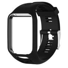 Tomtom 러너 2 3 스파크 3 gps 시계 nov6 용 핫 실리콘 교체 손목 밴드 스트랩
