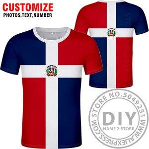 Image 2 - 도미니카 t 셔츠 로고 무료 맞춤 이름 dma 티셔츠 국가 국기 스페인어 도미니카 도미니카 공화국 인쇄 사진 의류