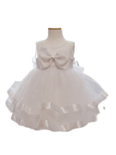 Baby Girl Dress Vestido Infantil Clothes Ivory Lace Bow Princess for 0 2T Flower Girl Dresses